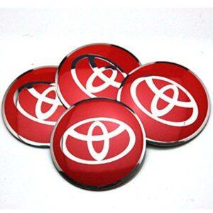 Toyota Alloy Wheel Center Caps Red Chrome