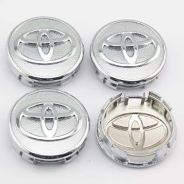 Universal Alloy Rim And Wheel Cup Cap Chrome Toyota