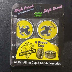 Ferrari Alloy Wheel Center Caps Yellow