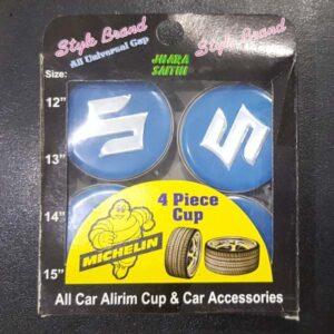 Suzuki Alloy Wheel Center Caps Blue