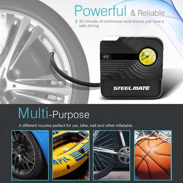 Steelmate PO3 Mini Tire / Tyre Inflator High Pressure Air Compressor