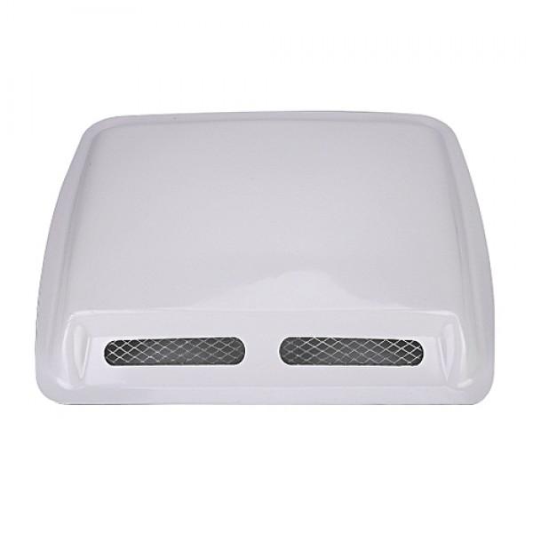 Universal White Car Auto Decorative Air Flow Intake Scoop Turbo Bonnet Vent Cover Hood 5034