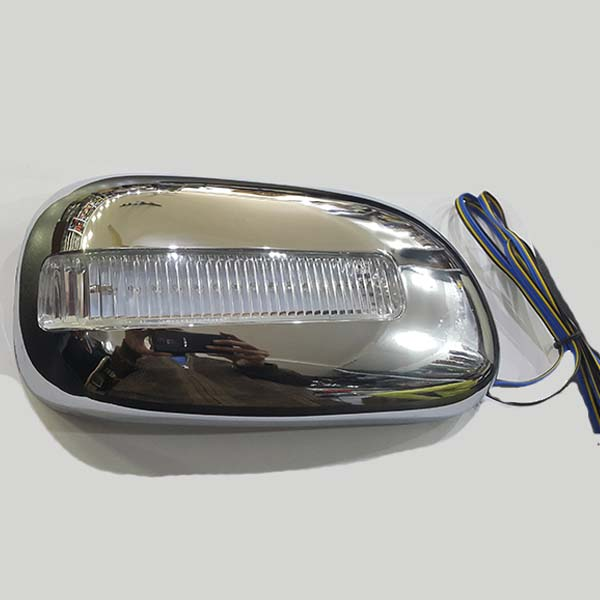Toyota Corolla Side Mirror Cover Chrome With LED Light 2001-2008