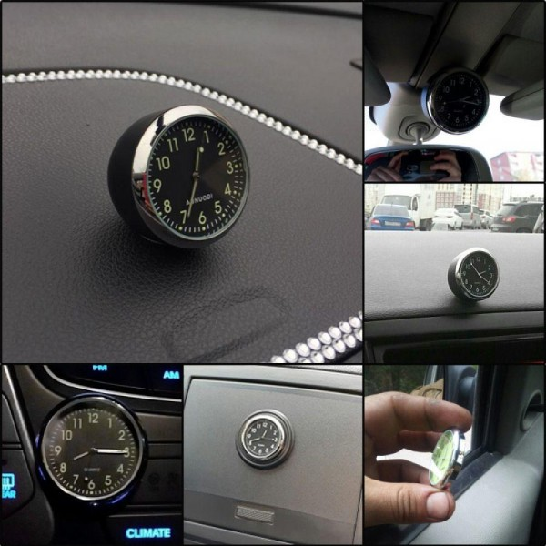 Mini Car clock Mechanics Quartz interior decorator styling kit digital