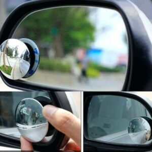 2Pcs Blind Spot Mirror Wide Angle Viewing Round 360 Degree Angle Adjustable