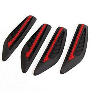 4pcs Auto Car Rubber Front Rear Door Guard Protector Sticker