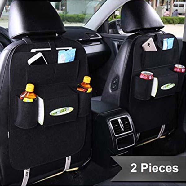 Car Back Seat Mounted Hanging Organizer Bag Set of 2 Pcs
