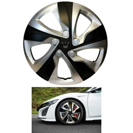 """Wheel Cup Taiwan WX4 3BK ABS Silver And Black 15"""" Inch"""