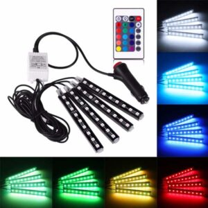 Car Atmosphere 4 Pcs DRL Light With Remote Control Multi