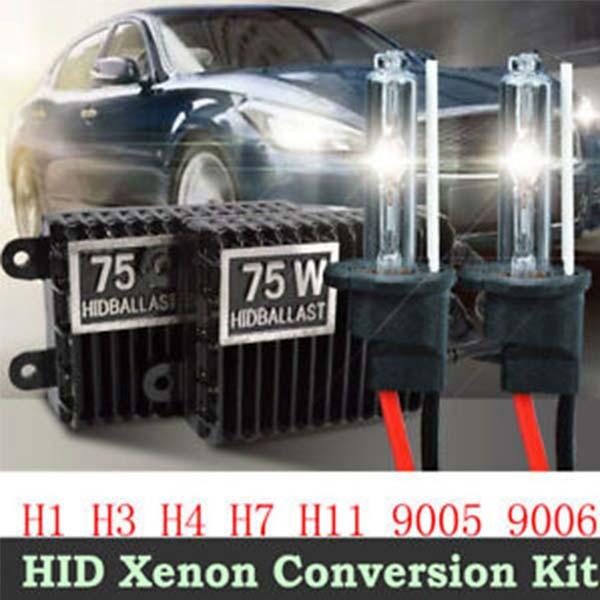 Xenon 75W HID Headlight Kit Tube H1 H3 H4 H7 H11
