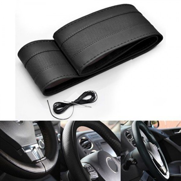 Stitching Steering Cover Gray