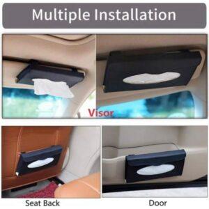 Car Tissue Box Visor Type PU Leather Car Tissue Box Napkin Holder Car Tissue Holder Car Seat Box