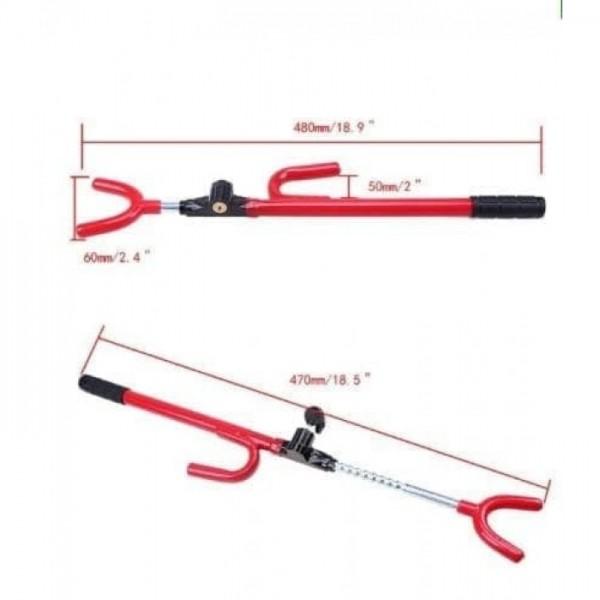 Adjustable Car Steering Anti-Thief Wheel Lock Crook Lock Type R R-22