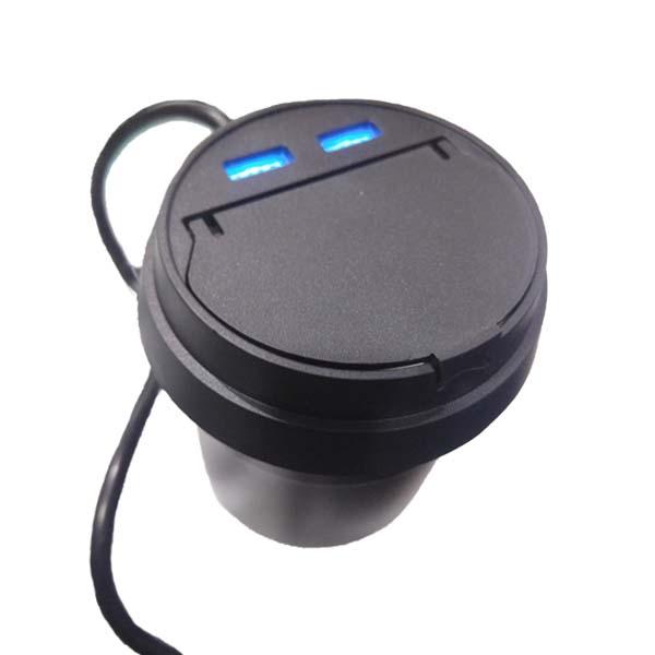Car Ashtray With Twin USB Socket