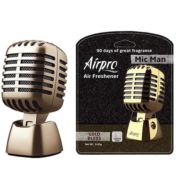 Airpro Mic Man Air Freshener Perfume Gold Bless