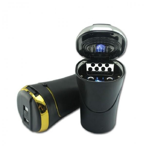 Car Luxury Ashtray Cigarette Lighter And Portable LED Light