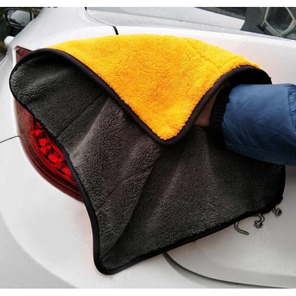 Car Cleaning Double Sided Microfiber Cloth Thickened Coral Fleece For Washing