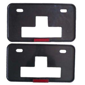 Car Number Plate Frame 2 Pcs Set