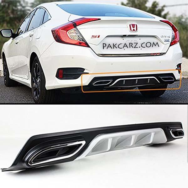 Honda Civic Rear/Back Bumper Diffuser Double Exhaust 2016-2017