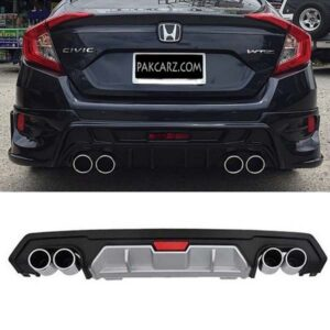 Honda Civic Dual Exhaust Diffuser 2017