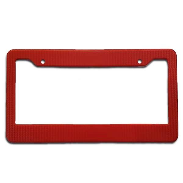 Colored Number Plate Frame Set