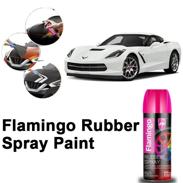 Flamingo Rubber Spray Paint Silver 450 ml