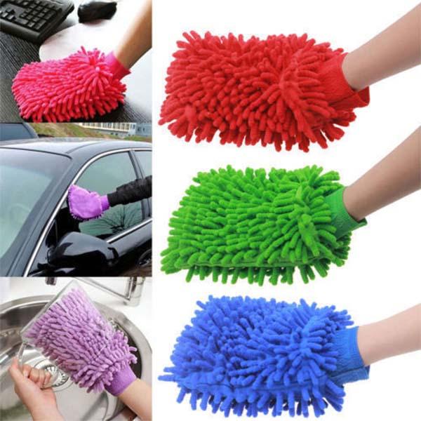 Car Wash And Dry Microfiber Washing Hand Glove