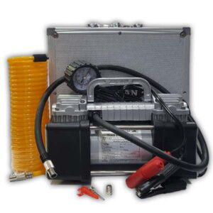 Heavy Duty Two Cylinder Air Compressor With Powerfull LED Light 12V
