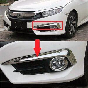 Honda Civic Fog Lamp Chrome Cover 2017
