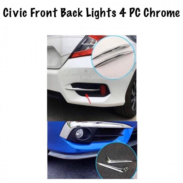 Honda Civic Front And Back Bumper Lights 4Pcs Chrome