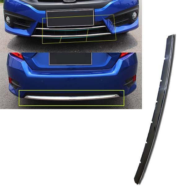 Honda Civic 2017 Front And Rear Bumper Chrome