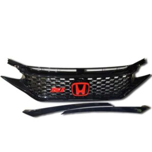 Honda Civic Front Grill Black with SI Logo 2017