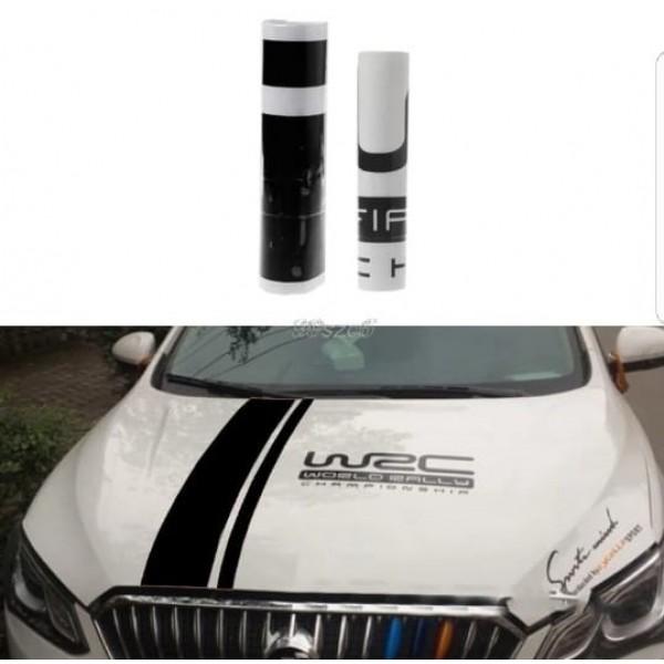 Customization WRC Stripe Car Covers Vinyl Racing Sports Decal Head car sticker