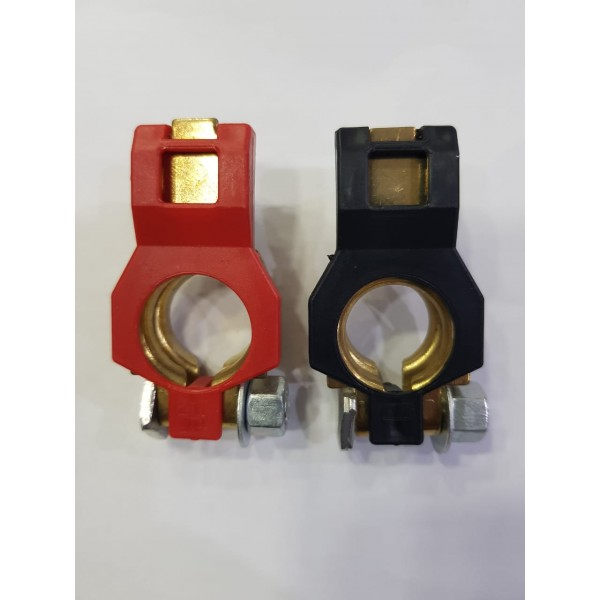Battery Terminal Set 2Pcs Positive & Negative Car Battery Cable Terminal Clamps Connectors