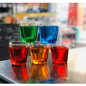 Car Dashboard Decoration Multi Colour Glass Cups