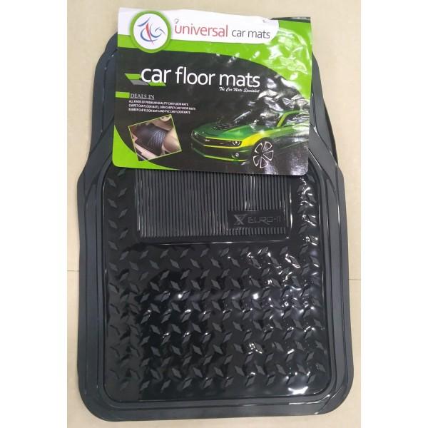 Universal Car Floor Mat 3Pcs Crystal Black 090