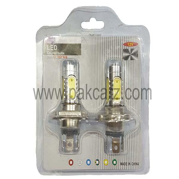 H4 LED Colored Bulbs T10WB 12 Volt
