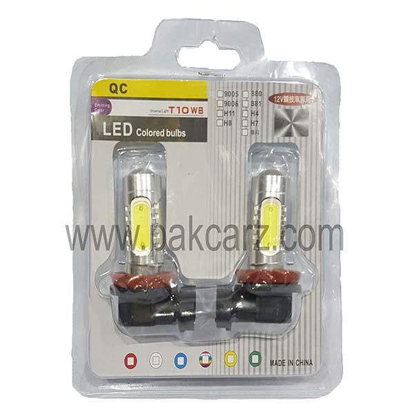 H11 LED Colored Bulbs T10WB 12 Volt