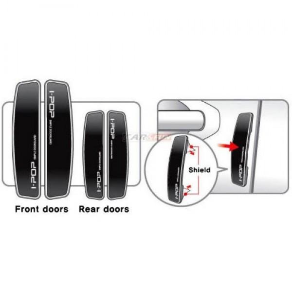 I-pop Simple Black Car Door Guard Protector