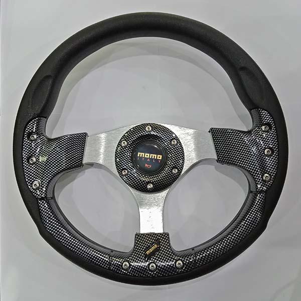 Momo Car Steering wheel Carbon And Silver