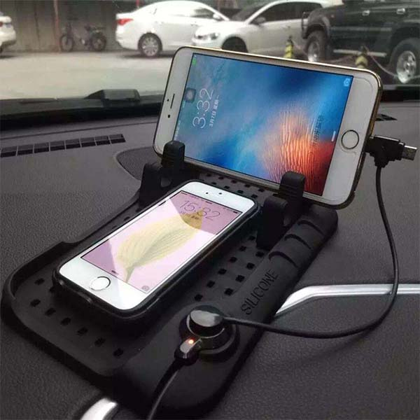 Car Mobile Holder Non Slip Stand With Charger