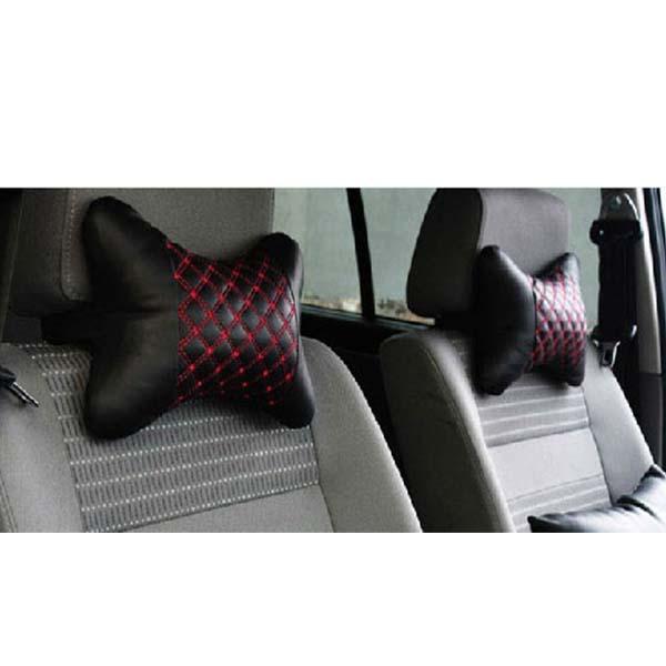 Car Neck Rest Pillow Pair Black