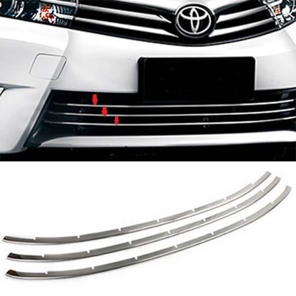 Toyota Corolla Front Bumper Grill Chrome Set 2017