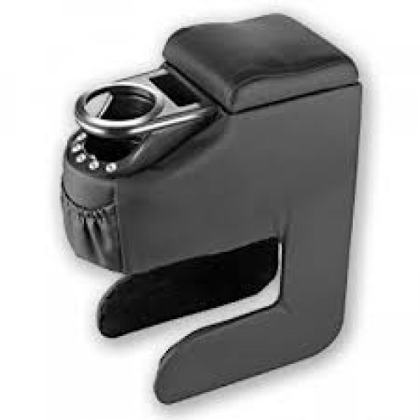 Universal Car Arm Rest Large With Glass Holder Black