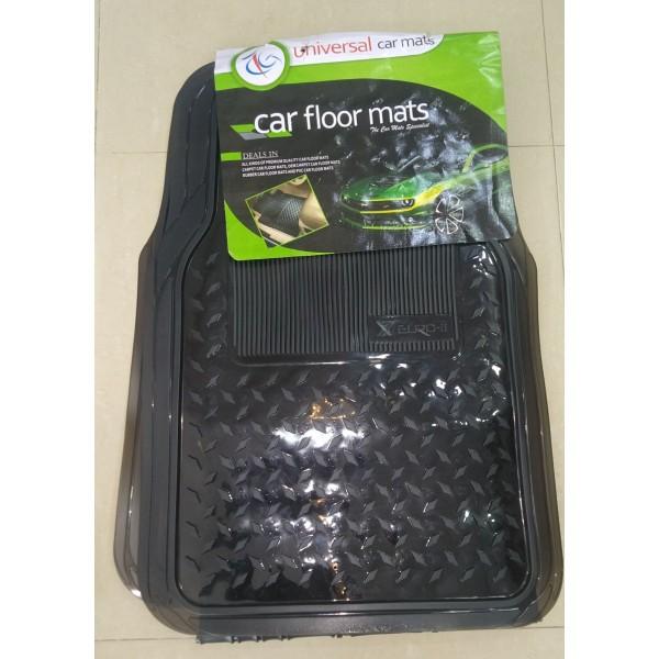 Universal Car Floor Mat 3Pcs Crystal Smoke 090