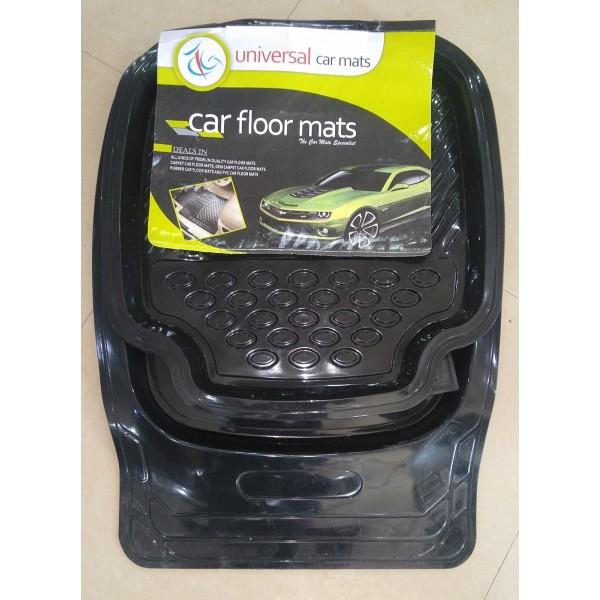 Universal Car Floor Mat 5Pcs Crystal Black 070