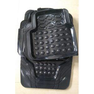 Universal Car Floor Mat Crystal Black 3Pcs 095