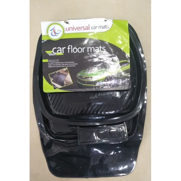 Universal Car Floor Mat Crystal Black 5Pcs 050