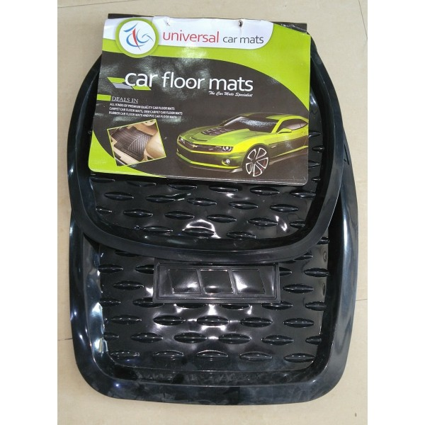 Universal Car Floor Mat Crystal Black 5Pcs 055
