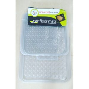 Universal Car Floor Mat Crystal White 5Pcs 080